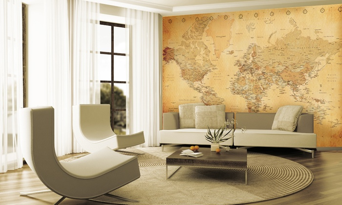 Wall Map Murals Groupon Goods
