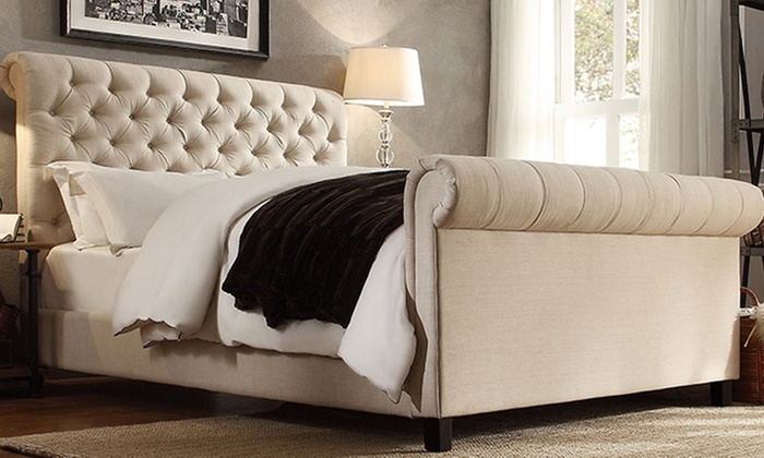 on tufted grant deal sleigh rosdorf bed shop park upholstered spectacular