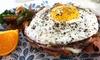 Frühstücksplatte mit Schnittchen