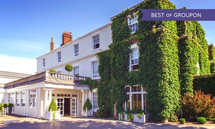 Cheshire: 1 or 2 Nights for Two with MC Dinner and Sparkling Wine at the 4* Rowton Hall Country House Hotel & Spa