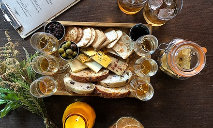 Cheese Board with Whiskey, Wine or Cocktails For Two at The Whiskey Jar