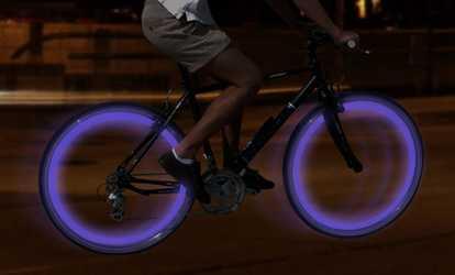 6d2c3099c Shop Groupon GPCT Four-LED Bike Wheel Lights
