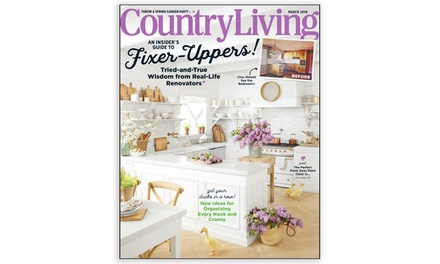 Country Living Magazine Subscription for One or Two Years (Up to 91% Off)