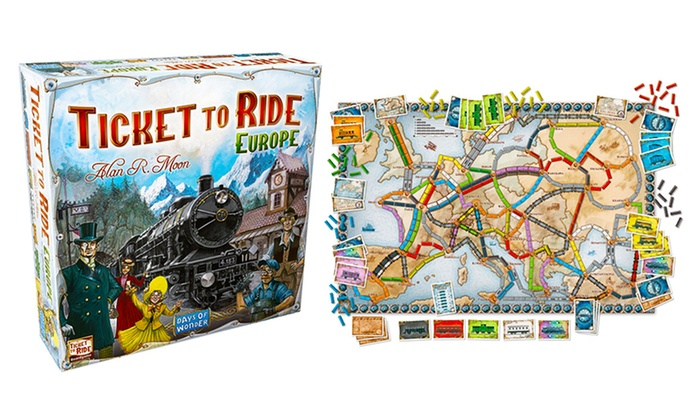 Up To 16 Off On Ticket To Ride Europe Board Game Groupon Goods