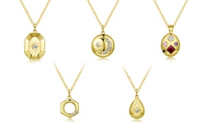 18K Gold-Plated Celestial Drop Necklace made with Swarovski Crystal