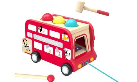 Autobús de madera 2 en 1 Tooky Toys para niños