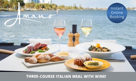 ThreeCourse Italian Meal for Two $75 or Four People $150 at Amano Restaurant Up to $288 Value