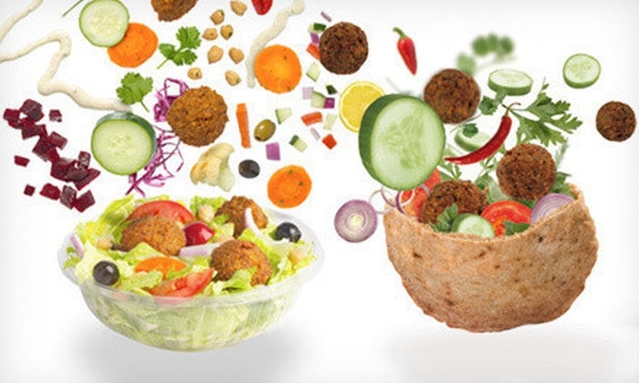 Maoz Vegetarian - Triangle State: Sandwiches and Salads at Maoz Vegetarian (Half Off). Two Options Available.