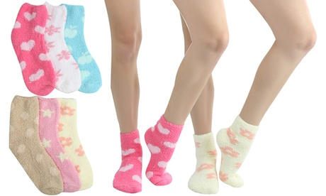 Women's Patterned Soft Plush Socks (6 Pairs) 308f62ee-a4b1-11e7-aa88-00259060b5da