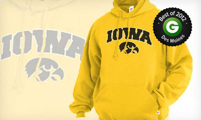 Iowa Book - Longfellow: $10 for $20 Worth of Nike, Champion, Russell, and Under Armour Hawkeye Gear at Iowa Book