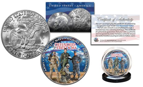 Defenders of Freedom U.S. Armed Forces Military Eisenhower IKE Dollar