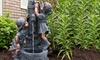 Pure Garden Faux Bronze Outdoor Water Fountain
