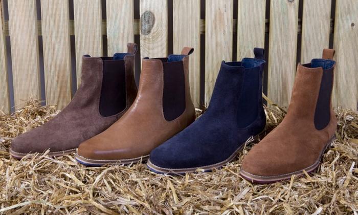 190b608ea0f7d8 Bottines Chelsea en daim ou cuir pour homme | Groupon Shopping