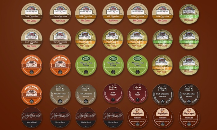 Chocolate Lover's Sampler of Coffee Pods: Chocolate Lover's 35-Count Sampler of Single-Serve Coffee Pods