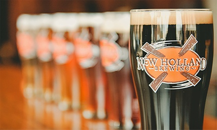 Sampler Tray and Crowler for One or Two, or Mug Club for One or Two at New Holland Brewing (Up to 33% Off).