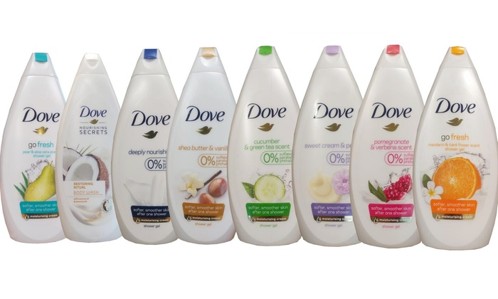 Dove Body Wash Shower Gel 6 Pack Groupon