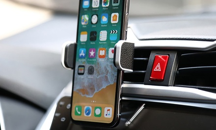 LAX Universal Vegan Leather Car Vent-Mounted Smartphone Holder