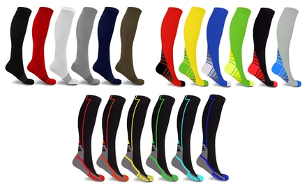 Unisex Ultra Knee-High Compression Socks (6-Pairs)