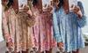 Sommer-Kleid mit V-Ausschnitt