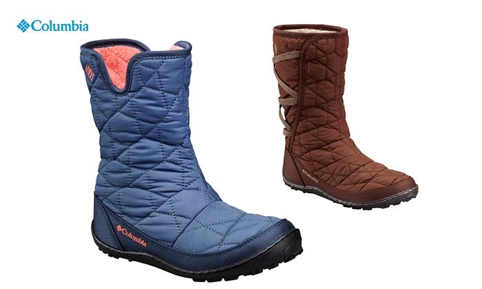 קולומביה - Merchandising (IL): מגפי גשם מעוצבים לנשים, נערות וילדות מבית Columbia, לנוחות ובידוד יעיל מהקור