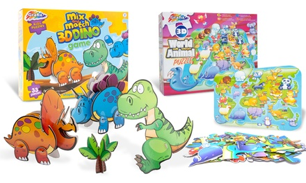 RMS Mix and Match 3D Dino Game or 3D World Animal Puzzle