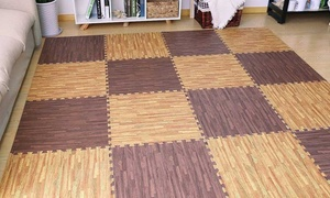 Sorbus Wood Grain Color Interlocking Floor Mat