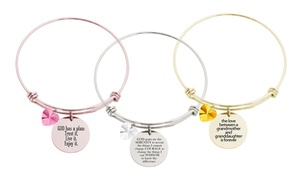 Inspirational Bangles with Crystals from Swarovski by Pink Box