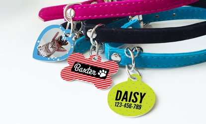 image for One, Two, or Three Personalized <strong>Pet</strong> Tags from Photobook America (Up to 69% Off)