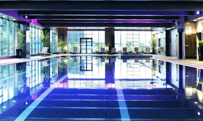 Spa day 2 treatments 18 locations village hotel spa groupon for Wirral hotels with swimming pools