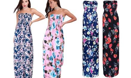 Be Jealous Bandeau Floral Maxi Dress