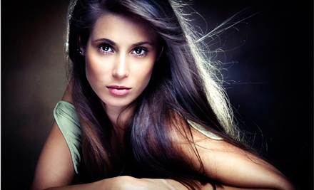 Brazilian Blowout, or Haircut, Style, and Brazilian Blowout with Optional Highlights at Hair Goddess (Up to 67% Off)