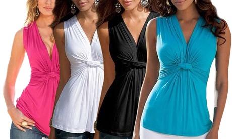 Women's Sleeveless Knot Top