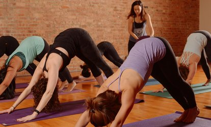 image for One-Month Unlimited or Five Yoga and Fitness Classes at Yoga Loft Studios (Up to 78% Off)