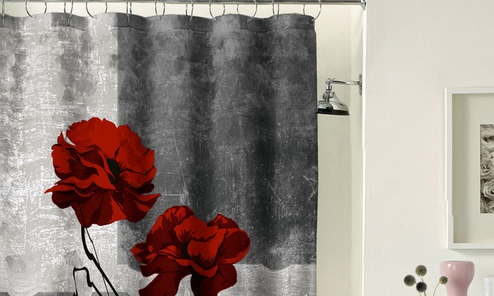 Poppy 72 X Fabric Shower Curtain