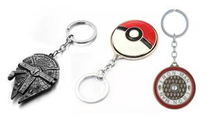 Novelty Star Wars, Star Trek, and Superhero Keychains