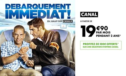 100 € de réduction sur un abonnement 24 mois à Canal +