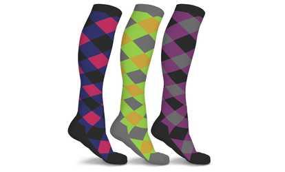 367bedbce1 Shop Groupon DCF Patterned Compression Socks (3 Pairs)