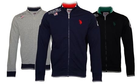 Sweat zippé à manches longues de la marque US Polo Assn, pour homme