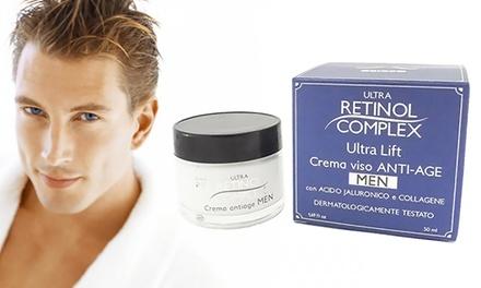 1 o 2 creme viso antietà per uomo con acido ialuronico Retinol Complex da 50 ml