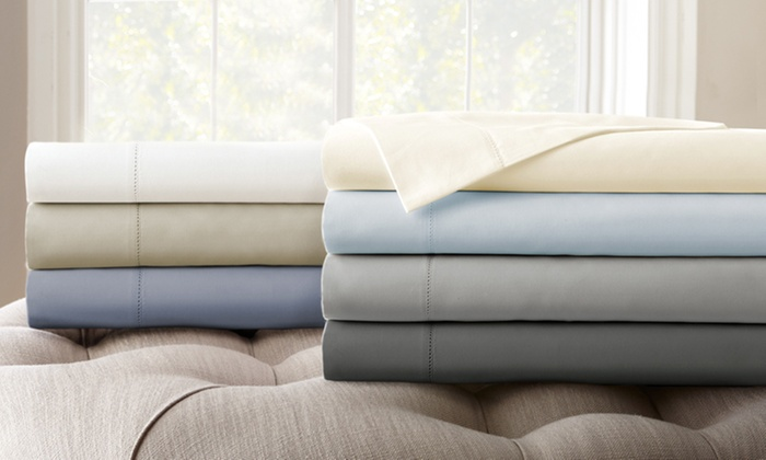 Clearance: Symphony 1,500 Thread Count Cottonu2013Rich Solid Sheet Set:  Clearance ...