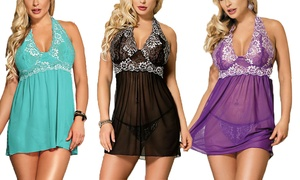 Pretty Bash Lace Halter Babydolls l Sizes 0-18