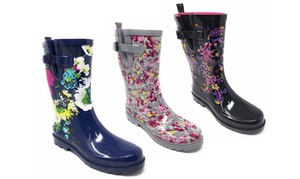 Women's Floral or Camouflage Short Rain Boots