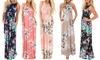 Maxi Floral Dress: Hot Pink/XL