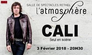 Plan B Événements: 2 places en catégorie 2 pour le concert de Cali, le samedi 03 février 2018 à 20h30 à 49 € à L'Atmosphère de Rethel