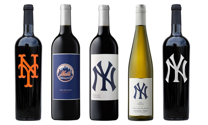 Father's Day Club Series NY Mets or NY Yankees Bottled Wine at Aries Wines & Spirits