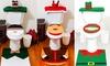 Christmas Toilet Decoration Set