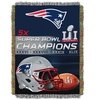 2016 NFL New England Patriots Super Bowl Champions Tapestry Throw