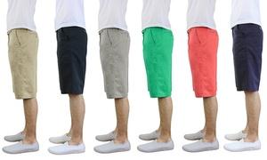 Men's Cotton Belted Flat-Front Shorts at Men's Cotton Belted Flat-Front Shorts, plus 6.0% Cash Back from Ebates.