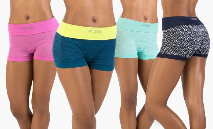 Form+Focus Women's Seamless Shorts (2-Pack)     | Groupon Exclusive