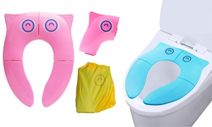 Siège de toilettes pliable